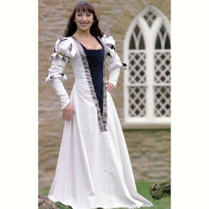 White German Gown
